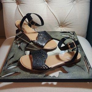 Black Bamboo Sandals